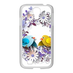 Flowers Floral Flowery Spring Samsung Galaxy S4 I9500/ I9505 Case (white) by Nexatart