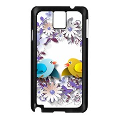 Flowers Floral Flowery Spring Samsung Galaxy Note 3 N9005 Case (black)