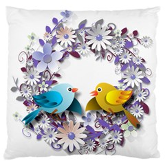 Flowers Floral Flowery Spring Standard Flano Cushion Case (two Sides)
