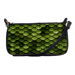 Green Mermaid Scales   Shoulder Clutch Bags by paulaoliveiradesign