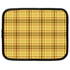 Plaid Yellow Fabric Texture Pattern Netbook Case (xxl)