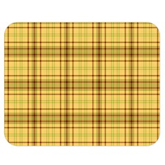 Plaid Yellow Fabric Texture Pattern Double Sided Flano Blanket (medium)  by paulaoliveiradesign