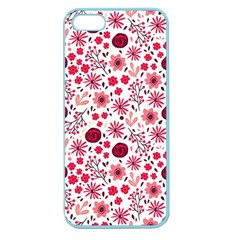 Red Floral Seamless Pattern Apple Seamless Iphone 5 Case (color) by TastefulDesigns