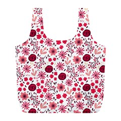 Red Floral Seamless Pattern Full Print Recycle Bags (l)  by TastefulDesigns