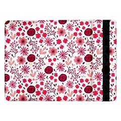 Red Floral Seamless Pattern Samsung Galaxy Tab Pro 12 2  Flip Case by TastefulDesigns
