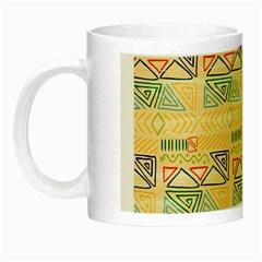 Hand Drawn Ethinc Pattern Background Night Luminous Mugs
