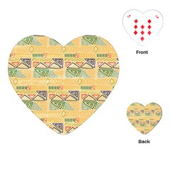 Hand Drawn Ethinc Pattern Background Playing Cards (heart)
