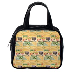 Hand Drawn Ethinc Pattern Background Classic Handbags (one Side)