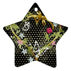 Heart Flowers Patterns Dark Bright 11093 3840x2400 Star Ornament by amphoto