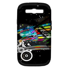Patterns Circles Lines Stripes Colorful Rainbow 20251 3840x2400 Samsung Galaxy S Iii Hardshell Case (pc+silicone)