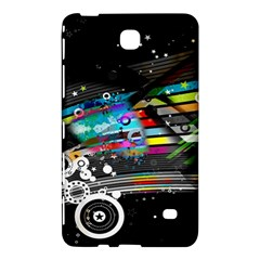 Patterns Circles Lines Stripes Colorful Rainbow 20251 3840x2400 Samsung Galaxy Tab 4 (8 ) Hardshell Case  by amphoto