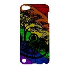 Trees Stripes Lines Rainbow  Apple Ipod Touch 5 Hardshell Case by amphoto