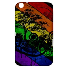 Trees Stripes Lines Rainbow  Samsung Galaxy Tab 3 (8 ) T3100 Hardshell Case  by amphoto