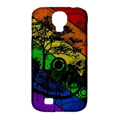 Trees Stripes Lines Rainbow  Samsung Galaxy S4 Classic Hardshell Case (pc+silicone) by amphoto