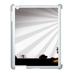 Shooting Tank Person Tree Sun  Apple Ipad 3/4 Case (white) by amphoto