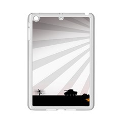 Shooting Tank Person Tree Sun  Ipad Mini 2 Enamel Coated Cases by amphoto