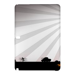 Shooting Tank Person Tree Sun  Samsung Galaxy Tab Pro 12 2 Hardshell Case