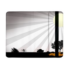 Shooting Tank Person Tree Sun  Samsung Galaxy Tab Pro 8 4  Flip Case by amphoto