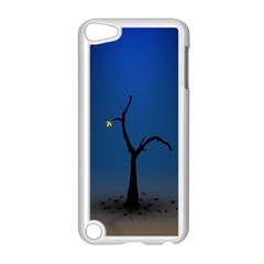 Tree Lonely Blue Orange Dark  Apple Ipod Touch 5 Case (white) by amphoto