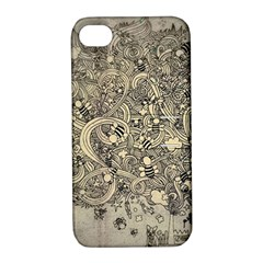 Patterns Dog Line Shape  Apple Iphone 4/4s Hardshell Case With Stand