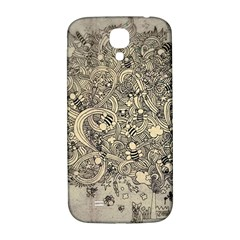 Patterns Dog Line Shape  Samsung Galaxy S4 I9500/i9505  Hardshell Back Case