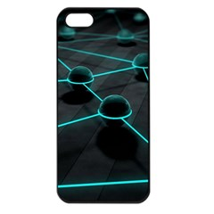 3d Balls Rendering Lines  Apple Iphone 5 Seamless Case (black)