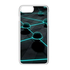 3d Balls Rendering Lines  Apple Iphone 7 Plus White Seamless Case by amphoto