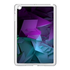 Abstract Shapes Purple Green  Apple Ipad Mini Case (white) by amphoto