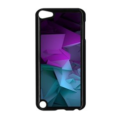 Abstract Shapes Purple Green  Apple Ipod Touch 5 Case (black) by amphoto