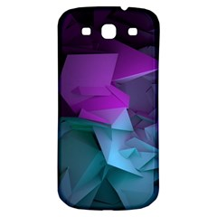Abstract Shapes Purple Green  Samsung Galaxy S3 S Iii Classic Hardshell Back Case by amphoto