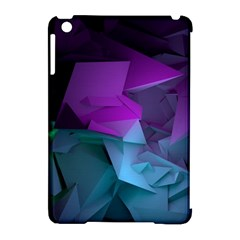 Abstract Shapes Purple Green  Apple Ipad Mini Hardshell Case (compatible With Smart Cover) by amphoto