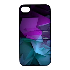 Abstract Shapes Purple Green  Apple Iphone 4/4s Hardshell Case With Stand by amphoto