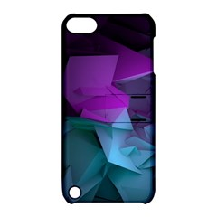 Abstract Shapes Purple Green  Apple Ipod Touch 5 Hardshell Case With Stand by amphoto