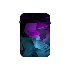 Abstract Shapes Purple Green  Apple Ipad Mini Protective Soft Cases by amphoto