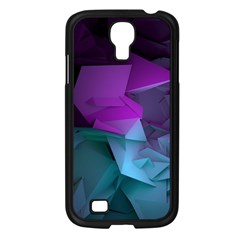 Abstract Shapes Purple Green  Samsung Galaxy S4 I9500/ I9505 Case (black)