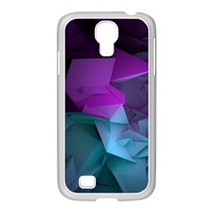 Abstract Shapes Purple Green  Samsung Galaxy S4 I9500/ I9505 Case (white) by amphoto