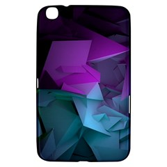 Abstract Shapes Purple Green  Samsung Galaxy Tab 3 (8 ) T3100 Hardshell Case  by amphoto