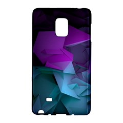 Abstract Shapes Purple Green  Galaxy Note Edge by amphoto