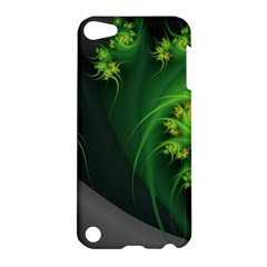 Abstraction Embrace Fractal Flowers Gray Green Plant  Apple Ipod Touch 5 Hardshell Case by amphoto