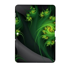 Abstraction Embrace Fractal Flowers Gray Green Plant  Samsung Galaxy Tab 2 (10 1 ) P5100 Hardshell Case  by amphoto