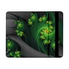 Abstraction Embrace Fractal Flowers Gray Green Plant  Samsung Galaxy Tab Pro 8 4  Flip Case