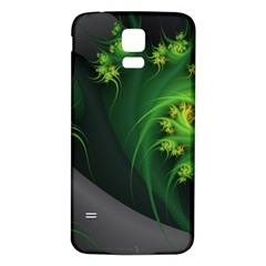 Abstraction Embrace Fractal Flowers Gray Green Plant  Samsung Galaxy S5 Back Case (white)