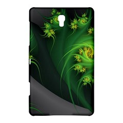 Abstraction Embrace Fractal Flowers Gray Green Plant  Samsung Galaxy Tab S (8 4 ) Hardshell Case  by amphoto
