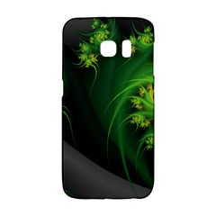 Abstraction Embrace Fractal Flowers Gray Green Plant  Galaxy S6 Edge by amphoto