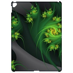 Abstraction Embrace Fractal Flowers Gray Green Plant  Apple Ipad Pro 12 9   Hardshell Case by amphoto