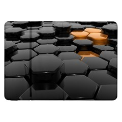 Orange Black Samsung Galaxy Tab 8 9  P7300 Flip Case by amphoto