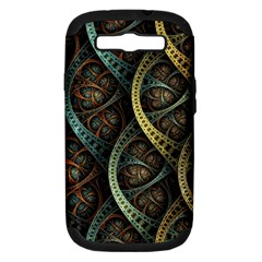 Line Semi Circle Background Patterns 82323 3840x2400 Samsung Galaxy S Iii Hardshell Case (pc+silicone) by amphoto