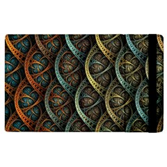 Line Semi Circle Background Patterns 82323 3840x2400 Apple Ipad 2 Flip Case by amphoto