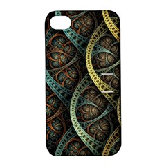 Line Semi Circle Background Patterns 82323 3840x2400 Apple Iphone 4/4s Hardshell Case With Stand by amphoto