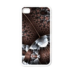 Lines Background Light Dark 81522 3840x2400 Apple Iphone 4 Case (white) by amphoto